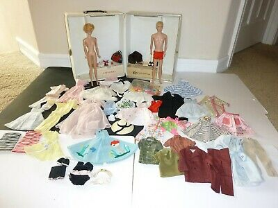 VINTAGE 1960s BARBIE KEN DOLL W/ CASE & CLOTHES LOT 3