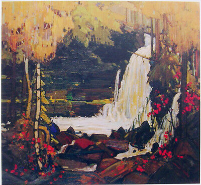 """Group of Seven, Tom Thomson """"Woodland Waterfall"""" Large Print"""