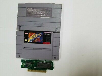 Axelay (Authentic) (Super Nintendo, SNES, 1992) Contacts Cleaned, Tested & Works