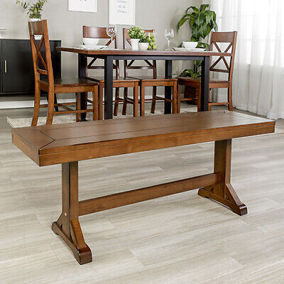Walker Edison Furniture Co 48 Inch Millwright Wood Dining Bench Antique Brown 179 10 Picclick