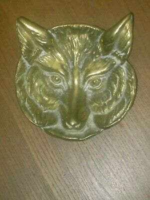 Vintage Antique J & J Siddons Solid Brass Fox Dish Model No 1300 In V.G.C.