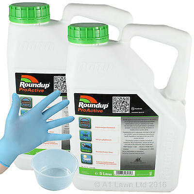 ROUNDUP PROACTIVE GLYPHOSATE CHEMICAL WEED KILLER 10 Ltrs - VERY STRONG
