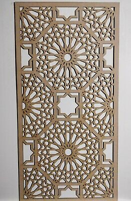 Radiator Cabinet Decorative Screening Perforated 3mm & 6mm thick MDFlasercutE44M