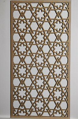 Radiator Cabinet Decorative Screening Perforated 3mm & 6mm thick MDFlasercutE66M