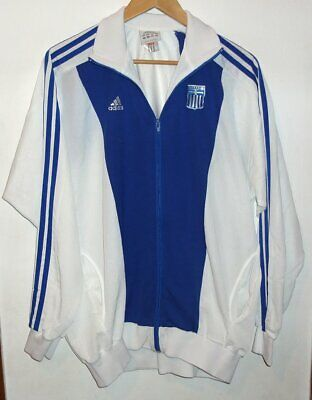 Greece Adidas Vintage Authentic Football Jacket Large Retro Greek Hellas