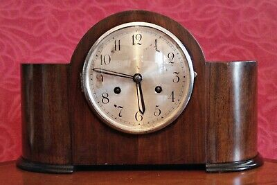 Vintage English 'Anvil' 8-Day Striking Mantel Clock, made in Perivale, London