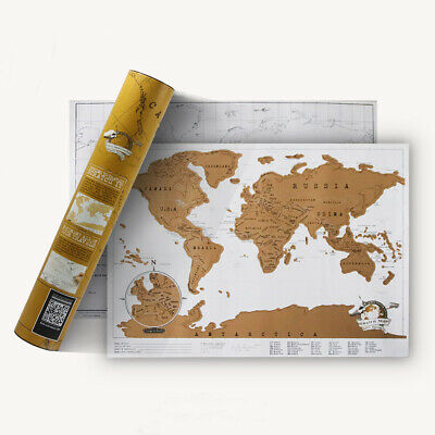 Luxury World Travel Scratch Off Map Holiday Travel Log Poster Wall Paper Gifts
