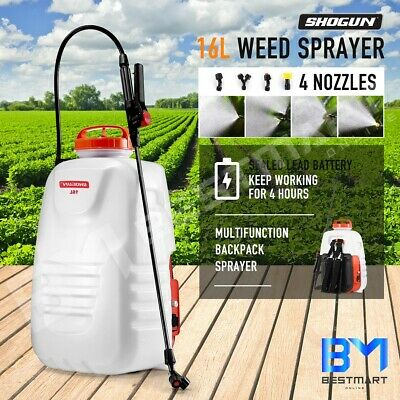 16L Electric Weed Sprayer 12V Backpack Water Pump Garden Watering Rechargeable