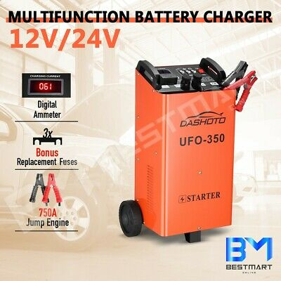 750A Battery Charger Portable Jump Starter Digital 12v/24v for Car ATV Boat