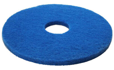 "5 x Blue 15"" Floor Cleaning Scrubbing Dry Buffing & Polishing Janitorial Pads"