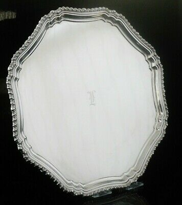 Large Silver Salver, Sheffield 1939, Stower & Wragg Ltd