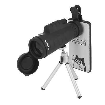 50x60 Portable HD Optical Monocular Telescope Day/Night Vision+Phone Clip+Tripod