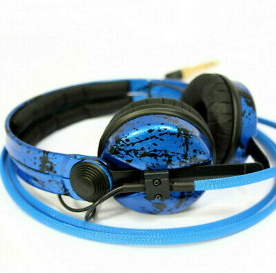 Custom Cans Royal + Blue Black Sennheiser HD25 DJ Headphones with 2yr warranty