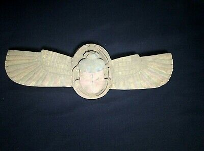 RARE ANCIENT EGYPTIAN ANTIQUE Scarab Winged Scarab 1579-1235 BC