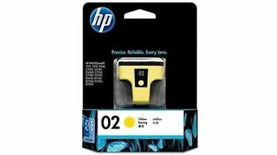 NEW HP 02 Yellow Original Ink Cartridge NIP Exp. 2020 Hewlett Packard Free Ship