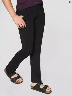 New With Tags Athleta Girl Chit Chat Pocket Straight Leg Black Sz Xs/6