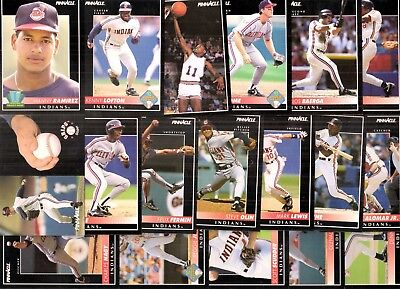 HUGE lot of 20 Different Cleveland Indians Team Sets 1986 to 2005 Thome Alomar