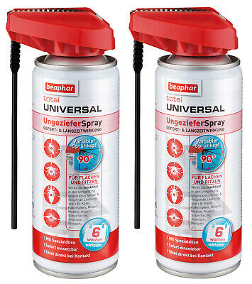 2x Beaphar Total Universal UngezieferSpray 200ml = 400ml Ungeziefer Spray
