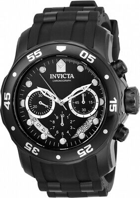 Invicta Men's Pro Diver Chrono 100m Black Stainless Steel, Silicone Watch 21930