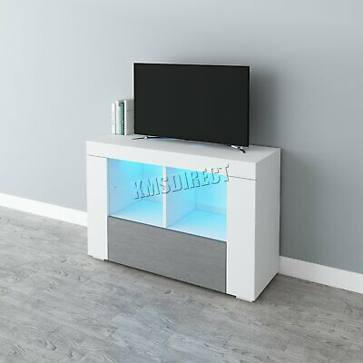 COSMETIC DAMAGED LED TV Cabinet Unit Stand – High Gloss Doors Matte Body TVC15