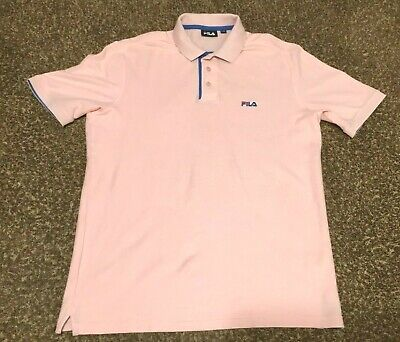 0784833b Vintage 90's Fila Mens Adult Large Pink Polo Shirt Tennis Bjorn Borg S/S  Cotton