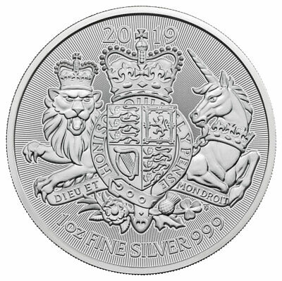 2019 Great Britain 1 oz Silver Royal Arms £2 Coin GEM BU SKU57762