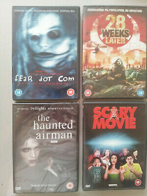 4 DVD Horror Thriller Comedy bundle -Some New/Sealed - Scary Movie, Fear dot Com