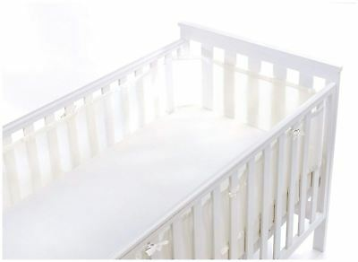 Breathable Baby MESH CRIB LINER 4 SIDED - WHITE Baby Child BN