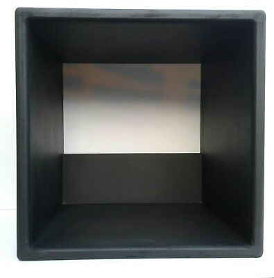 "12"" Pair Of Matt Black Vinyl Record Storage Cube"