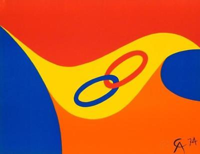 ALEXANDER CALDER, Friendship 1974 Lithograph Flying Colors Braniff Airlines Art