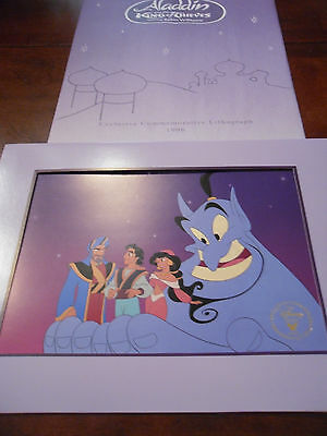 Disney Aladdin And The King Of Thieves Exclusive 1996 Commemorative Lithograph