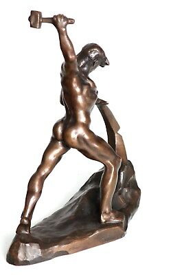 A bronze sculpture by Evgeniy Vuchetich