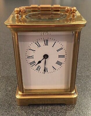 Very High Quality Fully Serviced Brass Cased French Carriage Clock