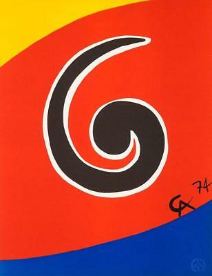 Alexander Calder, Sky Swirl 1974 Lithograph Flying Colors Braniff Airlines Art