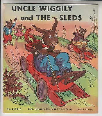 1939 Booklet - Uncle Wiggily And The Sleds - Platt & Munk Co.