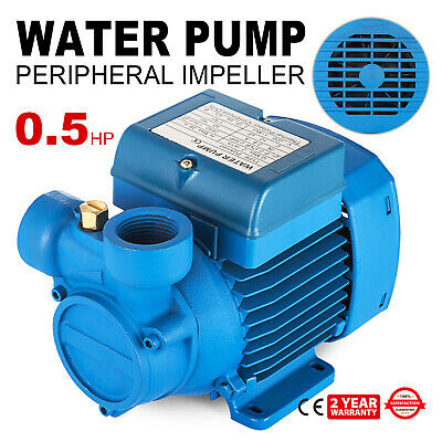 Electric Water Pump with peripheral impeller Stainless steel 2850 RPM blue
