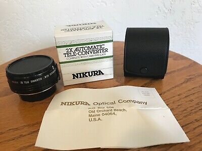 Nikura 2X Automatic Tele-Converter for Minolta-MD Complete with Carrying Case