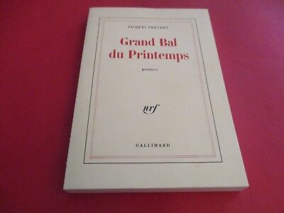 Livre Grand Bal Du Printemps Poemes Jacques Prevert