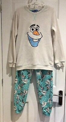 Ladies Fleece Pyjamas Disney Frozen Olaf Size S 6-8