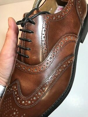 Vintage Bench Made RICHLEIGH Leather Brogues Haste Brown Shoes UK10 Mint