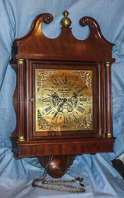 *A Large,Vintage, Weight Driven, Striking, Mahogany, Hooded Wall Clock*