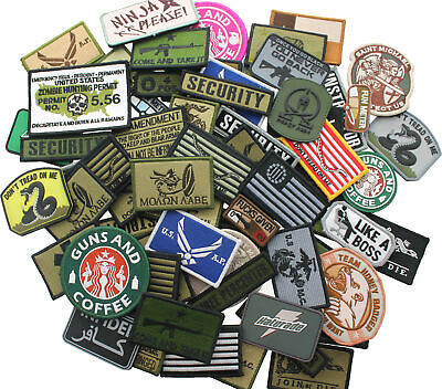 Wholesale Tactical Morale Patches Army Navy Military Outdoor Uniform Hook & Loop