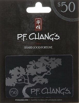 Set of 2 $50 Pf Chang's Gift Card Total $100 In Value
