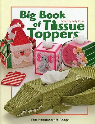 Big Book of Tissue Toppers, 49 Tissue Box Covers plastic canvas pattern book NEW