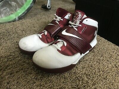 1db60fe03177 Used Nike LeBron Zoom Soldier IV 4 TB Mens Size 12.5 Red Crimson   White  2010
