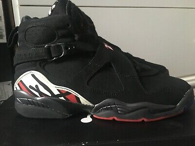 newest cf312 1710c 2013 Men s Nike Air Jordan 8 Viii Retro Playoff Black Suede 305368-061 Size  6