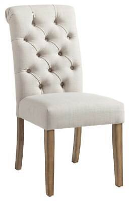 Fabric Button Tufted Side Chair in Beige - Set of 2 [ID 3788168]