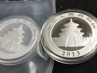 2012 and 2013 China PANDA SILVER 1 oz Guaranteed Authentic! Original Capsule