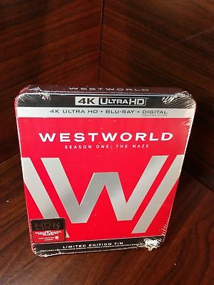 Westworld:The Complete First Season(4K Ultra HD/Blu-ray+HD Digital)NEW-Free S&H~
