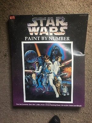 Star Wars Vintage Craft House Acrylic Paint by Number Sealed New A New Hope IV